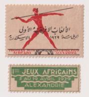 EGS29002 Egypt 1929 Cinderellas Vignette  First African Games - Alexandria - Égypte