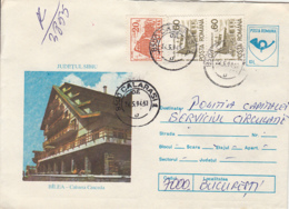 TOURISM, BALEA- WATERFALL CHALET, DIFFERENT STAMPS, REGISTERED COVER STATIONERY, ENTIER POSTAL, 1994, ROMANIA - Holidays & Tourism