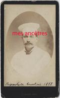 CDV Hippolyte Courtois Avec Une Toque De Cuisinier, Père D'Albert - Anciennes (Av. 1900)