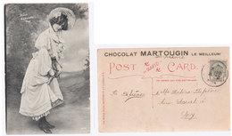 Cpa Gabrielle Ray  London  1912  Chocolat - Artistes