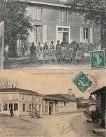 2 CPA:SAINT LUMIER EN CHAMPAGNE (51) CAFÉ,INSTITUTRICE PETITES FILLES ÉCOLE..ÉCRITES - France