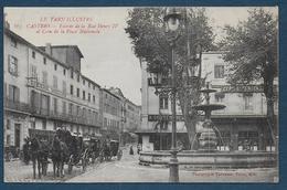 CASTRES - Entrée De La Rue Henri IV Et Coin De La Place Nationale - Castres