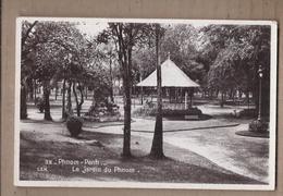 CPSM CAMBODGE - PHNOM PENH - Le Jardin Du Phnom - TB PLAN TB PHOTO Parc + KIOSQUE A MUSIQUE - Cambodia