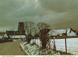 Birchington Kent Bungalow Covered In Christmas Snow Postcard - Inglaterra