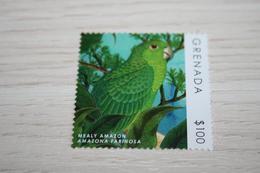 Birds 2014  Grenada Parrots  Rare Nominal 100$ !!! - Papageien