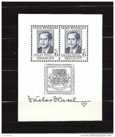 Czech Republic 1996 MNH ** Mi 124 Bl 3 Sc 2994 Prezident Vaclav Havel Sheet. Tschechische Republik - Czech Republic