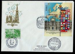 Hongrie - Hungary - Ungarn FDC 1986 Y&T N°BF189 - Michel N°B187A - EUROPA KSZE - Conseil De L'Europe - FDC