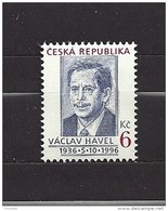 Czech Republic 1996 MNH ** Mi 124 Sc 2994 Prezident Vaclav Havel. Tschechische Republik - Czech Republic
