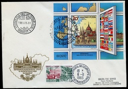 Hongrie - Hungary - Ungarn FDC 1983 Y&T N°BF166 - Michel N°B163A - EUROPA KSZE - Conseil De L'Europe - FDC