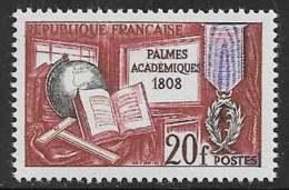 Maury 1190 - 20 F Palmes Académiques - * - Francia
