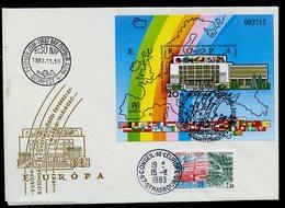 Hongrie - Hungary - Ungarn FDC 1983 Y&T N°BF171a - Michel N°B168B - EUROPA KSZE - Conseil De L'Europe - FDC