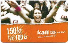 Faroe - Kall Studlar, 150Kr. GSM Refill, Exp.08.2005, Mint - Faroe Islands
