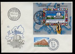 Hongrie - Hungary - Ungarn FDC 1985 Y&T N°BF181 - Michel N°B179A - EUROPA KSZE - Conseil De L'Europe - FDC