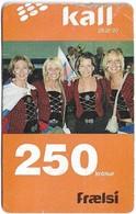 Faroe - Kall, Four Women In Special Dress, 250Kr. GSM Refill, Exp.01.2007, Used - Faroe Islands