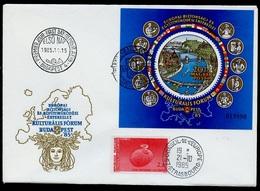 Hongrie - Hungary - Ungarn FDC 1985 Y&T N°BF182 - Michel N°B180A - EUROPA KSZE - Conseil De L'Europe - FDC