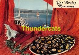 CPSM RECETTE EDITIONS LYNA No 84 LES MOULES MARINIERE - Recettes (cuisine)