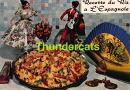 CPSM RECETTE EDITIONS LYNA No 32 LE RIZ A L'ESPAGNOLE - Recettes (cuisine)