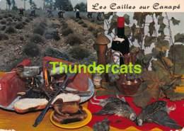 CPSM RECETTE EDITIONS LYNA No 118 CAILLES SUR CANAPE - Recettes (cuisine)