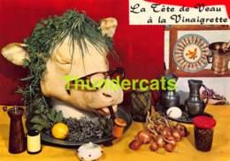 CPSM RECETTE EDITIONS LYNA No 80 LA TETE DE VEAU A LA VINAIGRETTE - Recettes (cuisine)