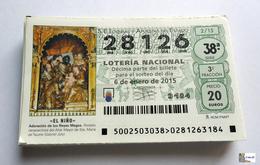 ESPAÑA - LOTERIA NACIONAL - AÑO:  2015 Completo - 51 Décimos - Billetes De Lotería