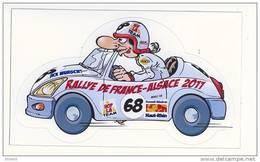 Autocollant    RALLYE DE FRANCE - ALSACE  2011 - HAUT RHIN 68 - Stickers