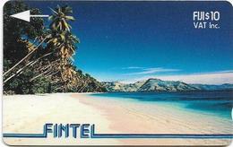 Fiji - FINTEL - Palms & Beach - 2CWFB - 1993, 10$, 10.000ex, Used - Fiji