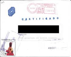 Lettre De Banque Recommandé Du Venezuela Pour La France. (Voir Commentaires) - Venezuela