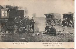 La Guerre De 1914 La Soupe Du Soir à L'armée Belge - War 1914-18