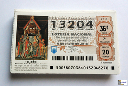 ESPAÑA - LOTERIA NACIONAL - AÑO:  2018 Completo - 51 Décimos - Billetes De Lotería