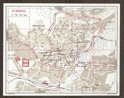 CARTE PLAN 1972 SAINT BRIEUC - HOSPICE CHAMP De MARS TERTRE NOTRE DAME GARE ROUTIERE - Mapas Topográficas
