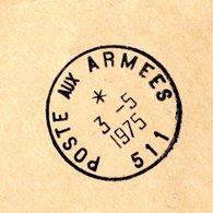 Cachet POSTE AUX ARMEES 511 Sur Pli De Service - GFD 71 - Storia Postale