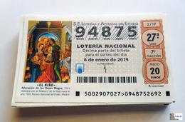 ESPAÑA - LOTERIA NACIONAL - AÑO:  2019 Completo - 51 Décimos - Billetes De Lotería