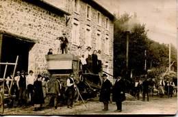 14278 - Ain  -  Photo De Marcelin BATTAGE DU BLE AVEC MACHINE A VAPEUR....  BELLEY ?? -  à Situer - France