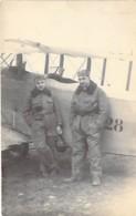 ** CARTE PHOTO ( Militaria ) 1920 ** Pilote LE CAUDRON Et Mécanicien LE FORT ( C 59 Et 2 N° 28 Aéronautique Militaire ) - Aviateurs