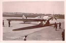 """AVIATION Avion MILITARIA (entre 2 Guerres 1919-38) """" TRAIT D'UNION """" Dewoitine D 33 - Pilotes DORET / LE BRIX - CPSM PF - 1919-1938: Entre Guerres"""