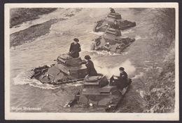 AK Propaganda / Unsere Wehrmacht / Panzer Im Fluß  ...  ( E 395 ) - Guerre 1939-45