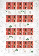 Gran Bretagna, 2000 Natale 2 Fogli Smilers, Perfetti - Personalisierte Briefmarken