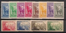 Madagascar - 1939-40 - N°Yv. 214 à 225 - Série Complète - Neuf Luxe ** / MNH / Postfrisch - Madagascar (1889-1960)
