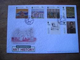 FDC 2010 L'internement Sur L'île De Man, Histoire De L'art, Valeur Faciale Des Timbres £ 4.97 - Isola Di Man