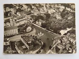 Carte Postale : 52 CHAUMONT : Vue Aérienne Sur La Place De La Gare, Timbre En 1956 - Chaumont