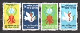 Ivory Coast 1979 Mi 587-590 MNH INTERNATIONAL YEAR OF THE CHILD - UNICEF - UNICEF