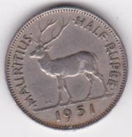 Ile Maurice 1/2 Rupee 1951 George VI. KM# 28 - Mauricio