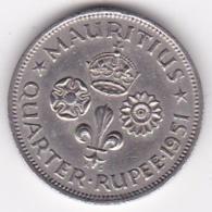 Ile Maurice 1/4 Rupee 1951 George VI. KM# 27 - Mauricio