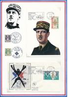 FRANCE - ENVELOPPE + CARTE 40EME ANNIVERSAIRE LIBERATION ROYAN POCHE DE ROYAN ILE D OLERON 13 AVRIL 1945 1 MAI 1945 1985 - Guerre Mondiale (Seconde)