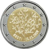 ESTLAND 2 Euro 2020 - 100 Jahre Friedensvertrag Von Tartu - UNC - Estonie