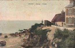 D56  LORIENT  Gâvres L'Océan  ........... Carte Toilée Peu Courante - Lorient