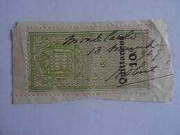 MONACO - TIMBRE QUITTANCE 10 C Oblitéré 1949 - VOIR SCAN - Other
