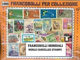 MIX DI 1000 FRANCOBOLLI USATI MONDIALI DIFFERENTI - 1000 WORLD CANCELLED STAMPS GREAT OFFER - ALTO VALORE!!! - Francobolli