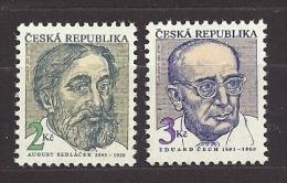Czech Republic 1993 MNH ** Mi 21-22 Sc 2902-2903 Persönlichkeiten August Sedlacek 1843-1926. Tschechische Republik - Czech Republic
