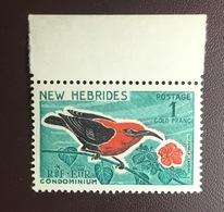 New Hebrides 1963 1f Honeyeater Birds MNH - Vögel